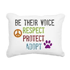 Respect Protect Adopt Rectangular Canvas Pillow