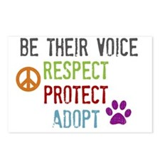 Respect Protect Adopt Postcards (Package of 8)