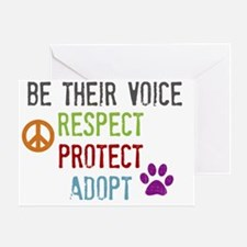 Respect Protect Adopt Greeting Card