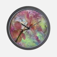 Hidden Orchid Wall Clock