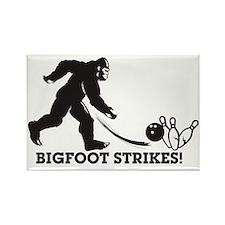Bigfoot Strikes! Rectangle Magnet