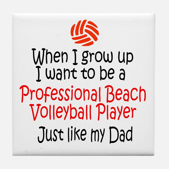 WIGU Pro Beach Volleyball Dad Tile Coaster