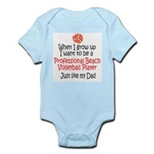 WIGU Pro Beach Volleyball Dad Infant Bodysuit