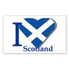I love Scotland Rectangle Decal