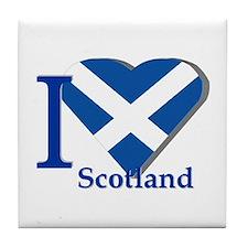 I love Scotland Tile Coaster