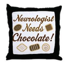 Neurologist Chocolate Gift Throw Pillow