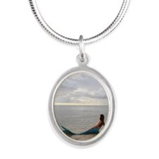 StaySea Mermaid SSH1 Silver Oval Necklace