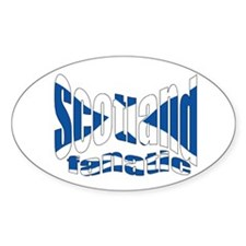 Scotish fan flag Oval Decal