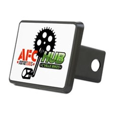 AFC/HUB Pedal Logo (white  Hitch Cover