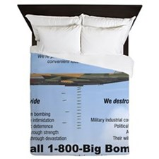 B-52 Stratofortress SAC 1-800-Big-Bomb Queen Duvet