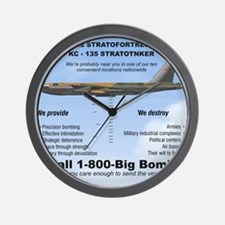 B-52 Stratofortress SAC 1-800-Big-Bomb Wall Clock