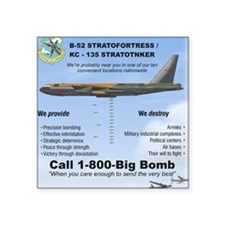 "B-52 Stratofortress SAC 1-8 Square Sticker 3"" x 3"""