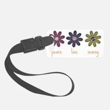 Peace Love Sewing Luggage Tag