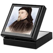 Geoffrey Chaucer, English author Keepsake Box