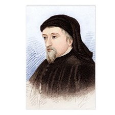 Geoffrey Chaucer, English Postcards (Package of 8)