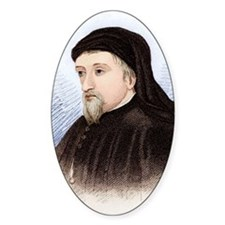 Geoffrey Chaucer, English author Decal