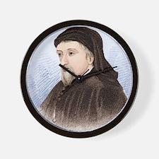Geoffrey Chaucer, English author Wall Clock