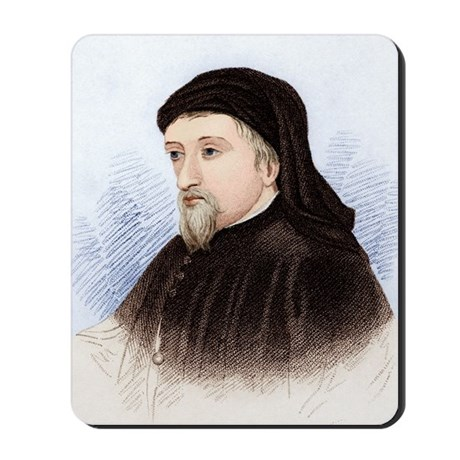 Geoffrey Chaucer, English author Mousepad