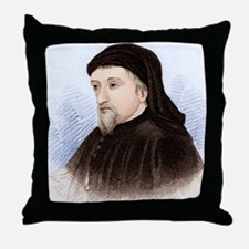 Geoffrey Chaucer, English author Throw Pillow