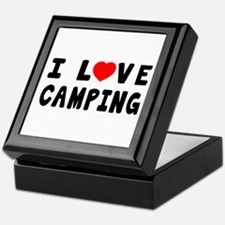 I Love Camping Keepsake Box