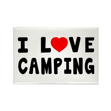 I Love Camping Rectangle Magnet (100 pack)