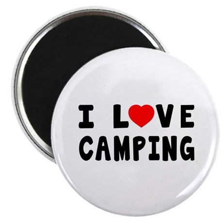 """I Love Camping 2.25"""" Magnet (100 pack)"""