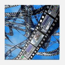 Photographic film, computer artwork Tile Coaster