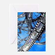Photographic film, computer artwork Greeting Card
