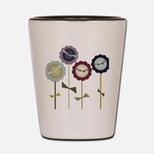 Button Flowers Shot Glass