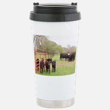 Calves with Mothers in  Stainless Steel Travel Mug