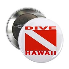 """Dive Hawaii 2.25"""" Button (10 pack)"""