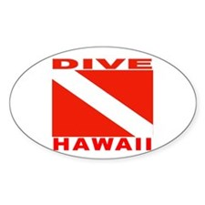 Dive Hawaii Oval Decal