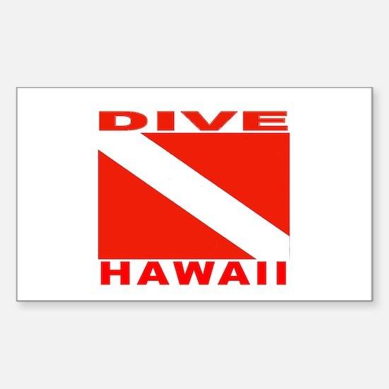 Dive Hawaii Rectangle Decal