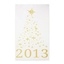 Happy new year 2013 3'x5' Area Rug
