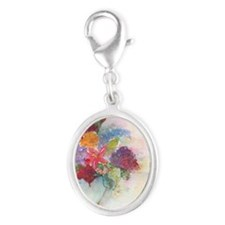 Flower arrangement Silver Oval Charm