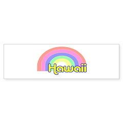 Hawaii Rainbow Bumper Bumper Sticker