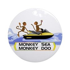 MonkeySea MonkeyDoo Ornament (Round)