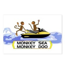 MonkeySea MonkeyDoo Postcards (Package of 8)