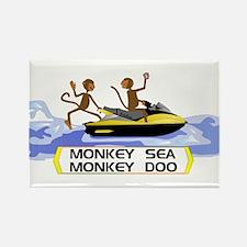MonkeySea MonkeyDoo Rectangle Magnet