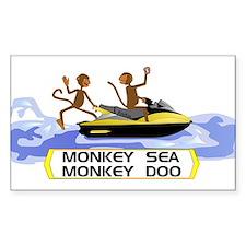 MonkeySea MonkeyDoo Rectangle Decal