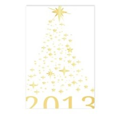 Happy new year 2013 Postcards (Package of 8)