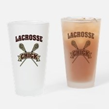 Lacrosse Chick Drinking Glass