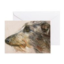 Scottish Deerhound Pastel Greeting Card