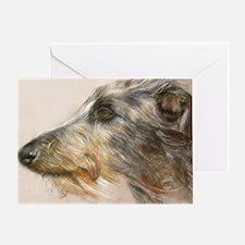 Scottish Deerhound Pastel Greeting Card