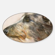 Scottish Deerhound Pastel Sticker (Oval)