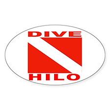 Dive Hilo, Hawaii Oval Decal
