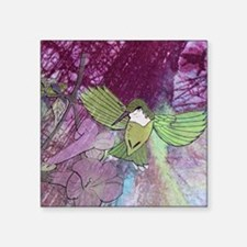 "Humming Bird Square Sticker 3"" x 3"""