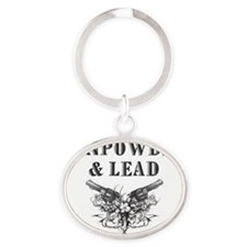 Gunpowder  Lead plain Oval Keychain