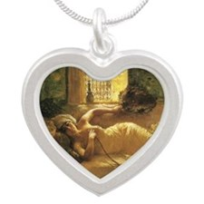 An Odalisque by Silver Heart Necklace