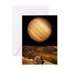 Jupiter from Io Greeting Card